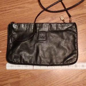 Vintage Anne Klein for Calderon Black Leather Bag